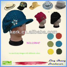 Fashionable new design pretty warm Wool felt hat Custom Design Cap wool felt hat , LSW47