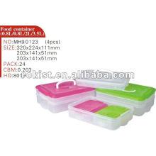 Lagerung, Behälter, Easylock 4pcs Set Kunststoff Gefrierfach