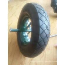 Rueda de goma neumática 400-8 del aire del neumático de la rueda de la carretilla