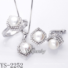 Joyería de moda perla set 925 plata para mujer (ys-2252)