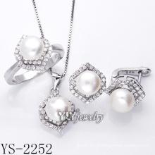 Moda jóia da pérola set 925 prata para a mulher (ys-2252)