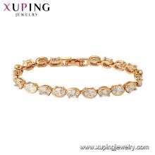 75778 xuping 18K gold plated fashion charm imitation crystal bracelet