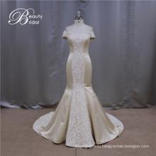 Высокое качество покинуть плеча дешевые шампанского Свадебные платья