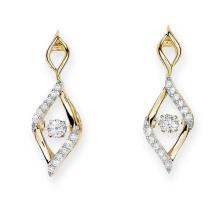 Gold Platte 925 Silber Ohrstecker Tanzen Diamant Schmuck