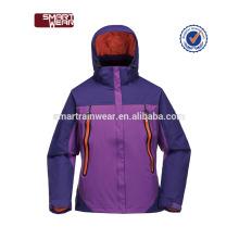228T nylon taslon enduit PU veste imperméable et coupe-vent femmes