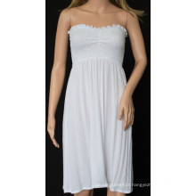 Sexy Strapless Dress with White Color