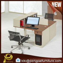 2 Person Office Desk with Sharing Cabinet