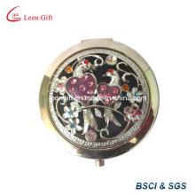Mejor regalo Metal alta calidad grabado espejos cosméticos