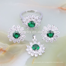 Hochwertige afrikanische Perlen 925 Silber Modeschmuck Set