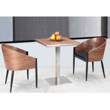 Comfortable Restaurant Wooden Cafe Arm Chair and Coffee Table (FOH-BCA22)