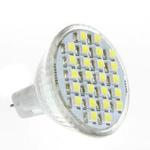 Remplacement halogène 12V DC MR11 Gu4 24 3528 Projecteur LED SMD Lampe à bulbe