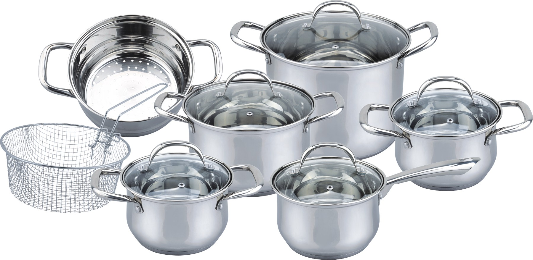 Special 12pcs stainless steel cookware set