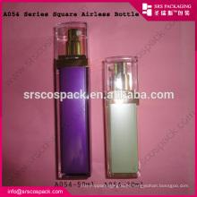 China Bela garrafa de acrílico roxo para creme facial 15ml 30ml 50ml Airless única bomba de garrafa