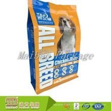Acceptez le logo fait sur commande de taille de la taille 5Kg imprimant l'emballage rescellable de poche d'animal familier de papier d'aluminium de tirette d'aluminium de tirette