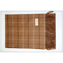 100% cashmere plaid scarf
