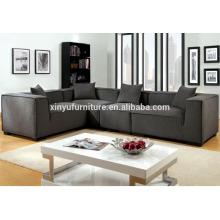 v shape living room fabric sofa set in dark grey XYN2062