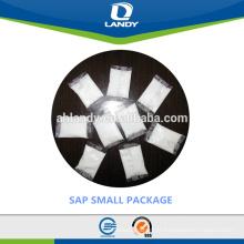 2017 Hot sale Super Polymer Absorvente fabricante saqueta SAP para o saco de sangue na urina