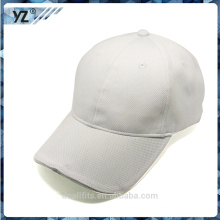 2016 white baseball hat with LED light good quality make in china