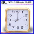 Gold Frame Logo Impression Square Plastic Wall Clock (Item27)