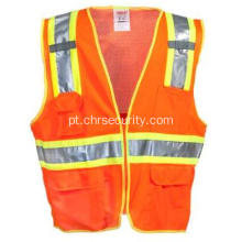 Men's Hi-Vis Fluorescente OrangeYellow Surveyor Vest