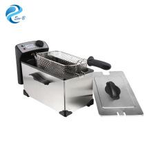 2017 Venda quente Eletrodomésticos usados para cozinhar prata 3.0L Fritadeira elétrica de gordura controlada por termostato geral