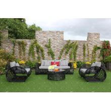 Eagle Collection - Sofá moderno de mimbre de ratán de PVC para muebles de exterior o de sala de estar