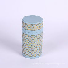 Polygonal packaging paper box for tea