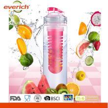 2015 Nueva botella de agua de Infuser de la fruta de Tritan del diseño con un infuser grande