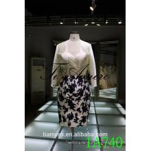 1A740 Vestido formal sin tirantes del satén Vestidos de las mujeres de la longitud de la rodilla 2016 nuevo diseño