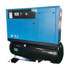 15HP 11KW screw air compressor mountain on 300 lilter air tank dryer all in one compressor 60 70 80 gallons air compressor