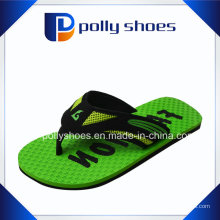 Mens Flip Flop Sandales Taille 9 Green Thong Red Rubber