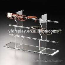 Klare Acryl-Sonnenbrille-Brillen-Ausstellungsstand-Halter-Regal