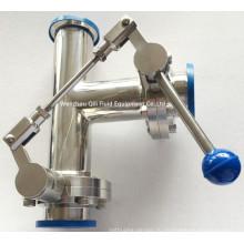 Нержавеющая сталь Тип резьбы / Зажим / Сварной клапан-бабочка с одной тяговой ручкой