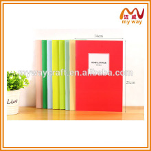lovely simple saddle stitching notebook,cheap school notebook