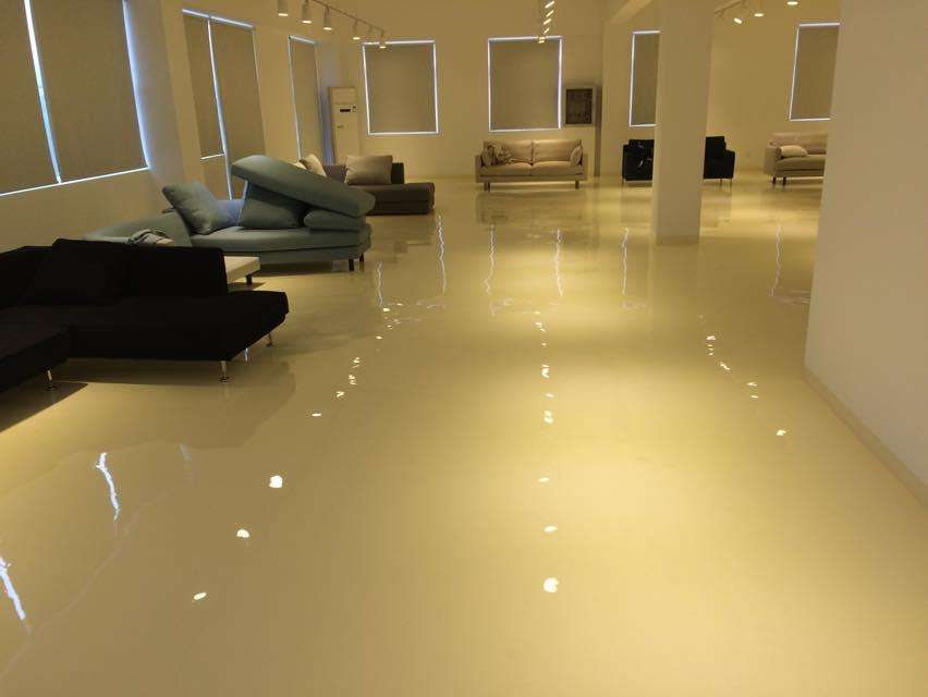 Office Solvent Free Epoxy Self Flowing Flat Paint