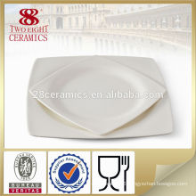Cheap white square dinner plates guangzhou haoxin glass dining ware