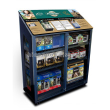 Quality Retail Store Movable Pet Safe Products Metal Frame Glass Front Locking Display Cabinet
