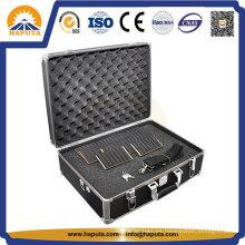 Caja de herramienta de aluminio vuelo de DJ negro con huevo esponja (HT-3001)