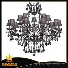 Hotel Project Black Crystal Chandelier Lighting (Kam2054)