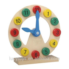 educational wooden toy clock for kids