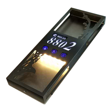 Porta targa elettronica per hotel Touch Door Switch con numero di camera LED Touch