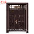 Chine Porte principale conception en acier double ouverture latérale porte extérieure