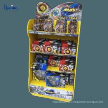 Supermarket Cardboard Hook Display For Toy , Carton Standing Display Shelf Display