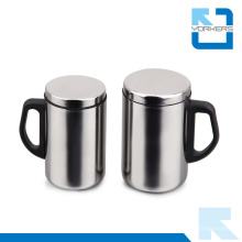 500 ml de tasse populaire en acier inoxydable et tasse de voyage avec design à double paroi