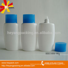 80ml nozzle head oval HDPE lotion bottle