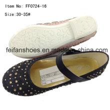 Мода девочек танцы обувь принцесса обувь туфли (FF0724 -16)