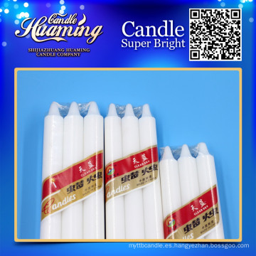 Vela casera para la iluminación vela blanca