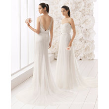 Heavy Sequins Beading Tulle Bridal Gown Wedding Dress