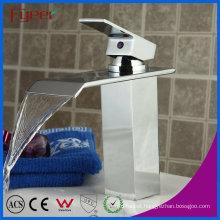 Fyeer Fashion Waterfall Single Handle Bathrooom Basin Faucet Mixer Tap