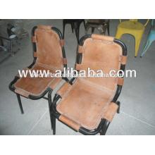 Cadeira de couro industrial